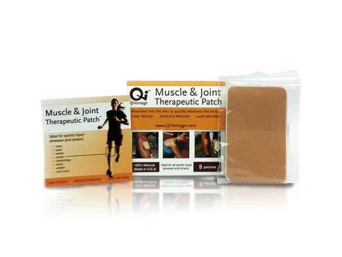 QiVantage Muscle and Joint Therapeutic Patch Components All