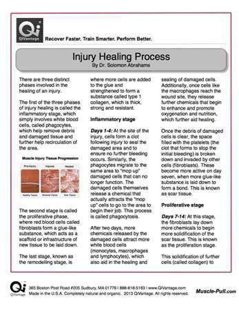Injury Healing Process QiVantage