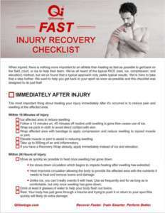 Injury Recovery Checklist
